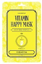 Parfumuri și produse cosmetice Mască din țesut cu vitamine pentru strălucirea pielii - Kocostar Vitamin Happy Mask