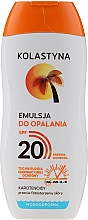 Parfumuri și produse cosmetice Emulsie bronzantă impermeabilă - Kolastyna Suncare Emulsion SPF20
