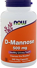 Parfumuri și produse cosmetice Supliment natural, 240 capsule - Now Foods D-Mannose