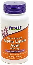 Parfumuri și produse cosmetice Acid alfa lipoic, 600 mg, capsule - Now Foods Alpha Lipoic Acid