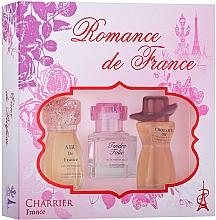 Parfumuri și produse cosmetice Charrier Parfums Romance De France - Set (edp/11.5ml+edp/10.1ml+edp/12ml)