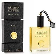 Parfumuri și produse cosmetice Esteban Les Matieres Cuir - Apă de toaletă (tester cu capac)