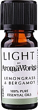 "Parfumuri și produse cosmetice Ulei esențial ""Lemongrass și Brgamotă"" - AromaWorks Light Range Lemongrass and Bergamot Essential Oil"