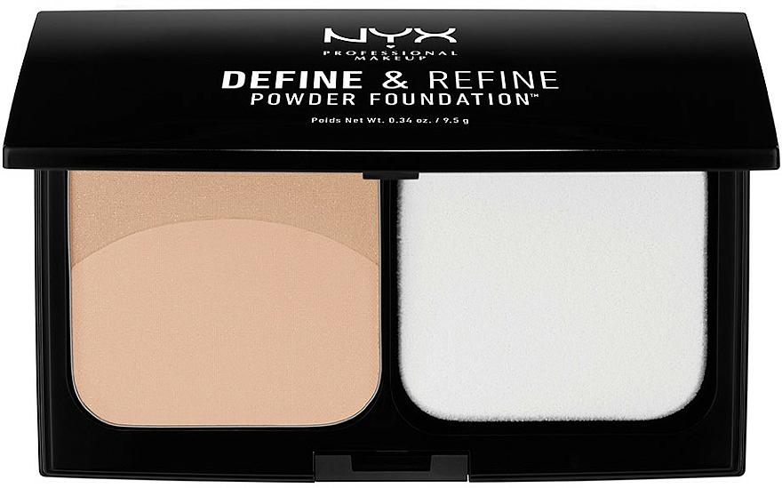 Pudră compactă dublă - NYX Professional Makeup Define Refine Powder Foundation — Imagine N1