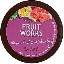 """Parfumuri și produse cosmetice Unt de corp """"Fructul pasiunii și pepene verde"""" - Grace Cole Fruit Works Body Butter"""