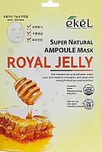 """Parfumuri și produse cosmetice Mască de țesut """"Lăptișor de matcă"""" - Ekel Super Natural Ampoule Royal Jelly"""