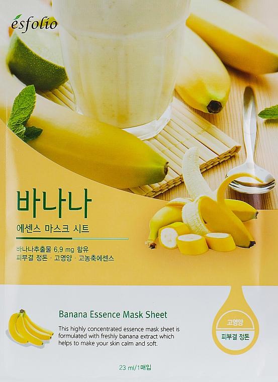 Mască din țesătură cu banană - Esfolio Essence Mask Sheet