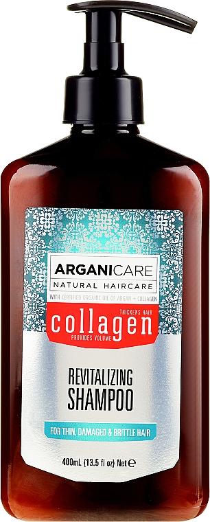Șampon cu colagen pentru păr poros și slab - Arganicare Collagen Revitalizing Shampoo