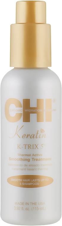 Fluid cu efect de netezire pentru păr - CHI Keratin K-Trix 5 Smoothing Treatment — Imagine N1