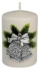 Parfumuri și produse cosmetice Lumânare aromatică, 7x10 cm, argintie - Artman Christmas Bell Candle