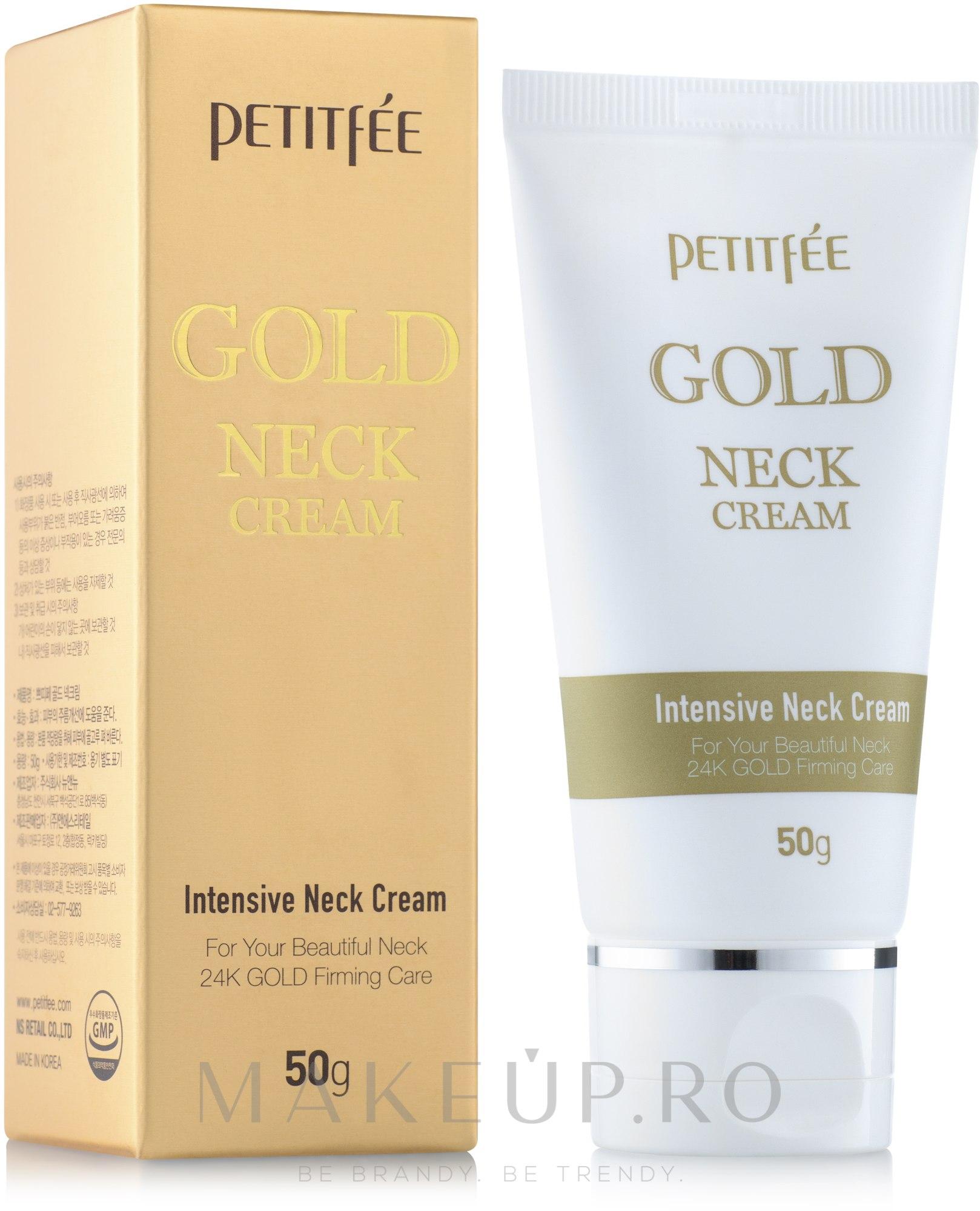 Cremă cu aur pentru gât și decolteu - Petitfee & Koelf Gold Neck Cream — Imagine 50 ml