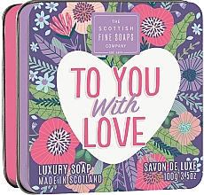 "Parfumuri și produse cosmetice Săpun ""To You with Love"" - Scottish Fine Soaps To You with Love Soap In A Tin"