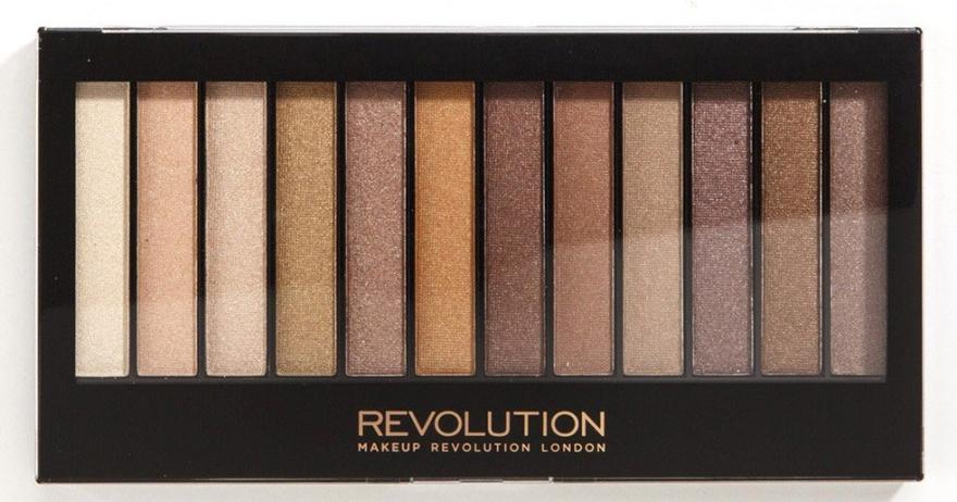 Paleta fard de pleoape, 12 nuanţe - Makeup Revolution Redemption Palette Essential Shimmers — Imagine N1