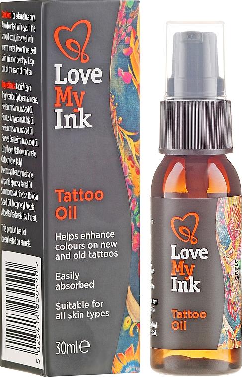 Ulei de corp pentru zonele cu tatuaj - Love My Ink Tattoo Oil — Imagine N1