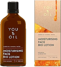 Parfumuri și produse cosmetice Bio-loțiune pentru față - You & Oil Moisturising Face Bio Lotion Amber Oil+Mineral Water
