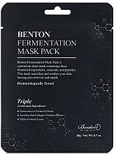 Parfumuri și produse cosmetice Mască cu ingrediente fermentate și peptide - Benton Fermentation Mask Pack