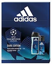 Parfumuri și produse cosmetice Adidas UEFA Dare Edition - Set (sh/gel/250ml + deo/spray/150ml)