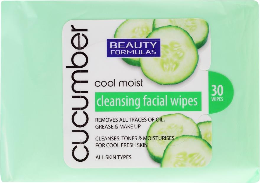 Șervețele demachiante cu extract de castravete - Beauty Formulas Cucumber Cleansing Facial Wipes