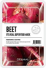 Parfumuri și produse cosmetice Mască cu extract de sfeclă roșie pentru față - Dermal It's Real Superfood Beat Mask