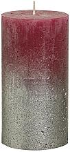 Parfumuri și produse cosmetice Lumânare cilindrică, bordo, 130x68 mm - Bolsius Metallic Candle