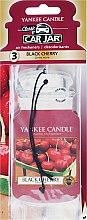 "Parfumuri și produse cosmetice Aromatizator Auto ""Cherry"" - Yankee Candle Car Jar Classic Black Cherry"