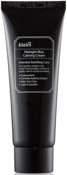 Cremă calmantă pentru pielea bronzată - Klairs Midnight Blue Calming Cream