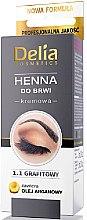 Parfumuri și produse cosmetice Vopsea cremă pentru sprâncene și gene, grafit - Delia Brow Dye Graphite Henna Cream