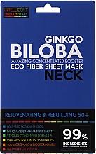 Parfumuri și produse cosmetice Mască-expres pentru gât - Beauty Face IST Rejuvenating & Rebuilding Neck Mask Ginkgo Biloba