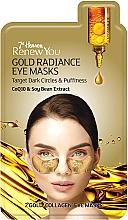 """Parfumuri și produse cosmetice Mască pentru conturul ochilor """"Strălucire de aur"""" - 7th Heaven Renew You Gold Radiance Eye Masks"""