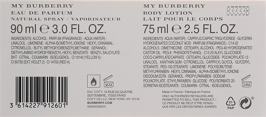 Burberry My Burberry - Set (edp/90ml + b/lot/75ml) — Imagine N2