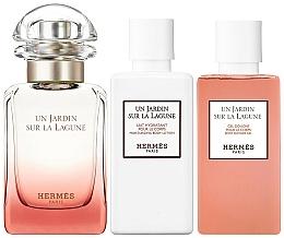 Hermes Un Jardin Sur La Lagune - Set (edt/50ml + sh/gel/40ml+ b/lot/40ml) — Imagine N2