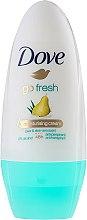 "Parfumuri și produse cosmetice Antiperspirant roll-on ""Pere și aloe vera"" - Dove Go Fresh Pear & Aloe Vera Deodorant"