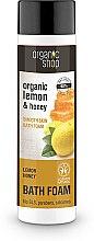 Parfumuri și produse cosmetice Spumă de baie, cu lămâie și miere - Organic Shop Organic Lemon and Manuka Golden Bath Foam