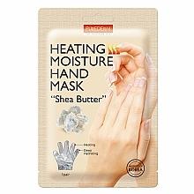 """Parfumuri și produse cosmetice Mască hidratantă cu efect de încălzire pentru mâini «Unt de shea» - Purderm Heating Moisture Hand Mask """"Shea Butter"""""""