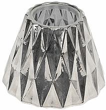 Parfumuri și produse cosmetice Abajur pentru lumânare medie - WoodWick Geometric Silver Shade