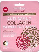 Parfumuri și produse cosmetice Mască din țesătură pentru față - Derma V10 Woven Face Mask Anti Ageing Collagen