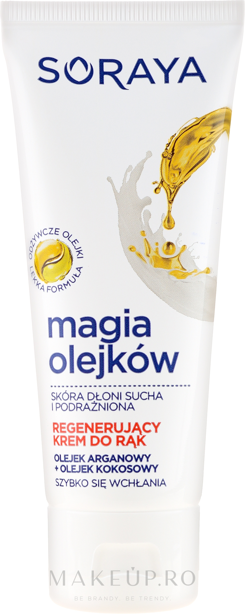 Crema regeneratoare pentru mâini - Soraya Magic of Oils Deeply Regenerating Hand Cream — Imagine 75 ml