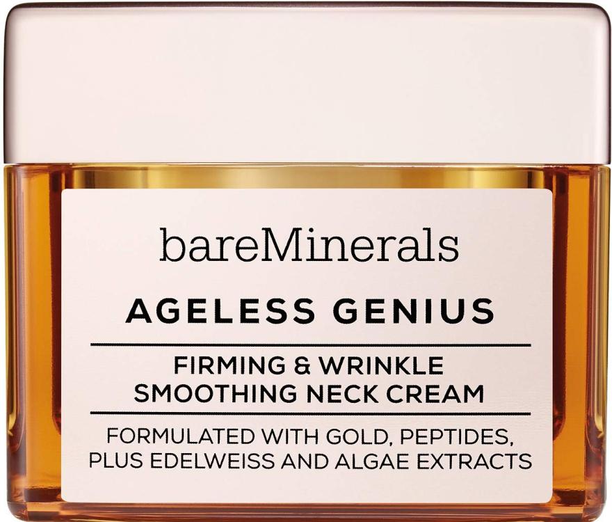 Cremă pentru fermitatea și netezirea zonei gâtului - Bare Escentuals Bare Minerals Moisturizer Ageless Genius Firming & Wrinkle Smoothing Neck Cream — Imagine N1