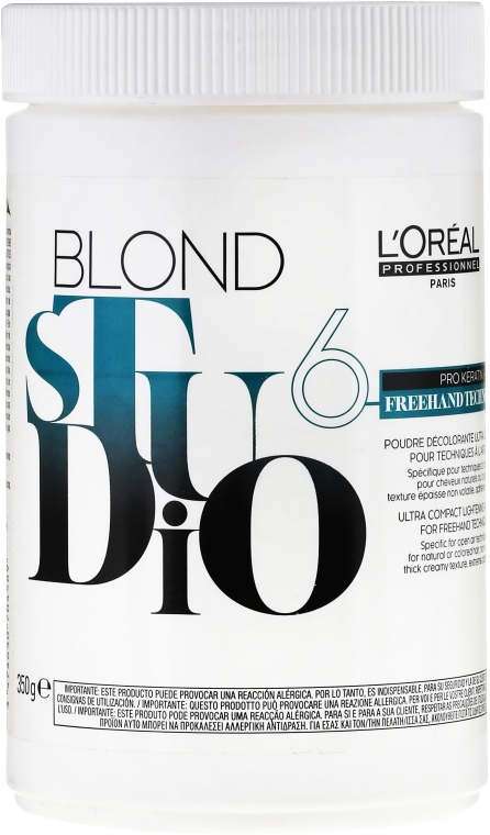 Pudră decolorantă - L'Oreal Professionnel Blond Studio Freehand Powder  — Imagine N1