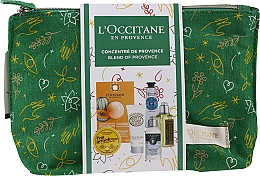 Parfumuri și produse cosmetice Set - L'Occitane Christmas Set (balm/15ml + f/mask/6ml + b/milk/20ml + h/cr/10ml + shm/35ml + sh/gel/30ml + bag)