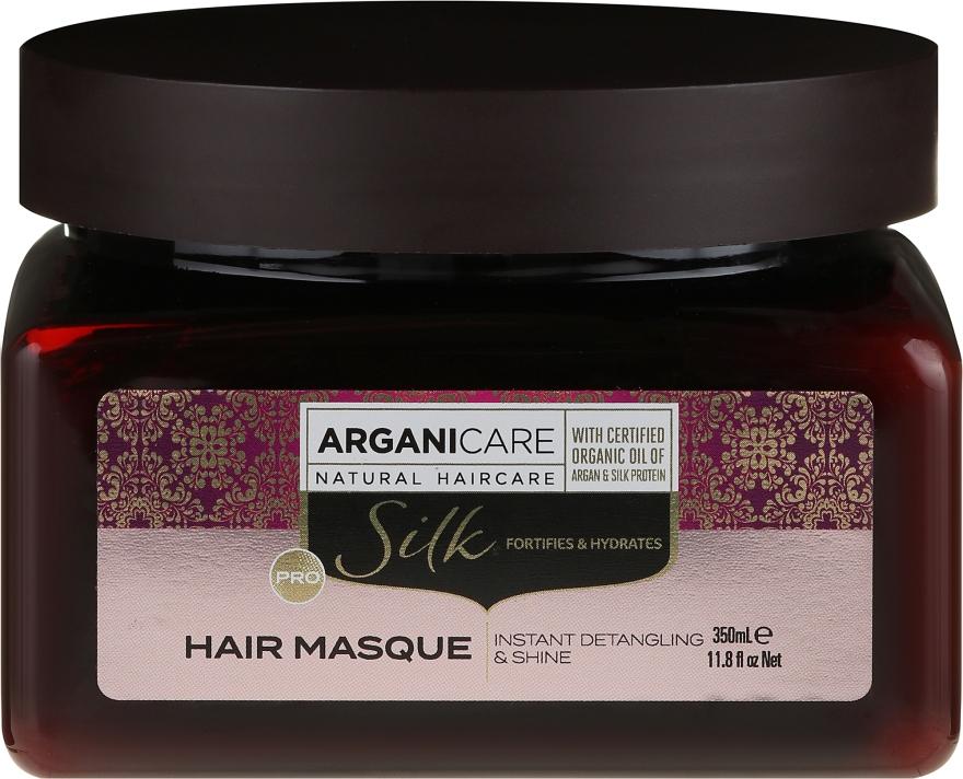 Mască cu proteine de mătase pentru păr - Arganicare Silk Hair Masque