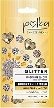 Parfumuri și produse cosmetice Mască exfoliantă cu extract de chihlimbar - Polka Glitter Peel Off Mask Amber