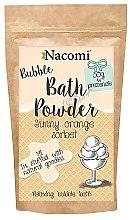"""Parfumuri și produse cosmetice Pudră pentru baie """"Sorbet portocaliu"""" - Nacomi Sunny Orange Sorbet Bath Powder"""