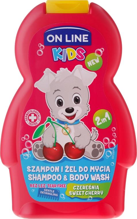 "Șampon-gel de duș ""Vișină"" - On Line Kids Cherry Shampoo & Body Wash"