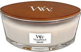 Lumânare parfumată în suport de sticlă - WoodWick Hearthwick Flame Ellipse Candle Warm Wool — Imagine N2