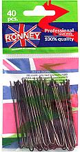 Parfumuri și produse cosmetice Set agrafe de păr 65 mm, 40 buc. - Ronney Professional Brown Hair Pins