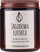 """Parfumuri și produse cosmetice Lumânare aromată din soia """"Berry Euphoria"""" - Bosphaera Berry Euphoria"""