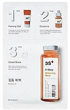 Parfumuri și produse cosmetice Mască de față - Missha 3-Step Whitening Mask
