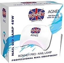 Parfumuri și produse cosmetice Lampă LED pentru unghii, albă - Ronney Professional Agnes Pro LED 48W (GY-LED-032)