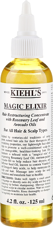 Elixir pentru păr - Kiehl's Magic Elixir Hair Restructuring Concentrate — Imagine N1